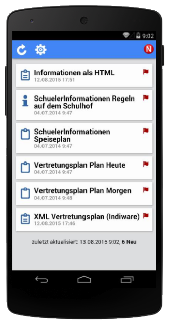 NEWSPOINT auf Android